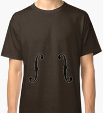 Upright Bass Guitar/Cello F-Holes Cutouts Classic T-Shirt