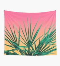 Tela decorativa Vaporwave Palm Life - Miami Sunset