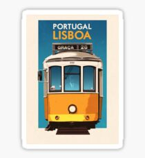 Travel Posters - Lisbon Portugal Sticker