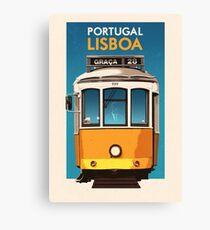 Travel Posters - Lisbon Portugal Canvas Print