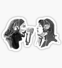 Paul and George Singing Sticker
