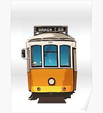 Travel Posters - Lisbon Tram Portugal Poster