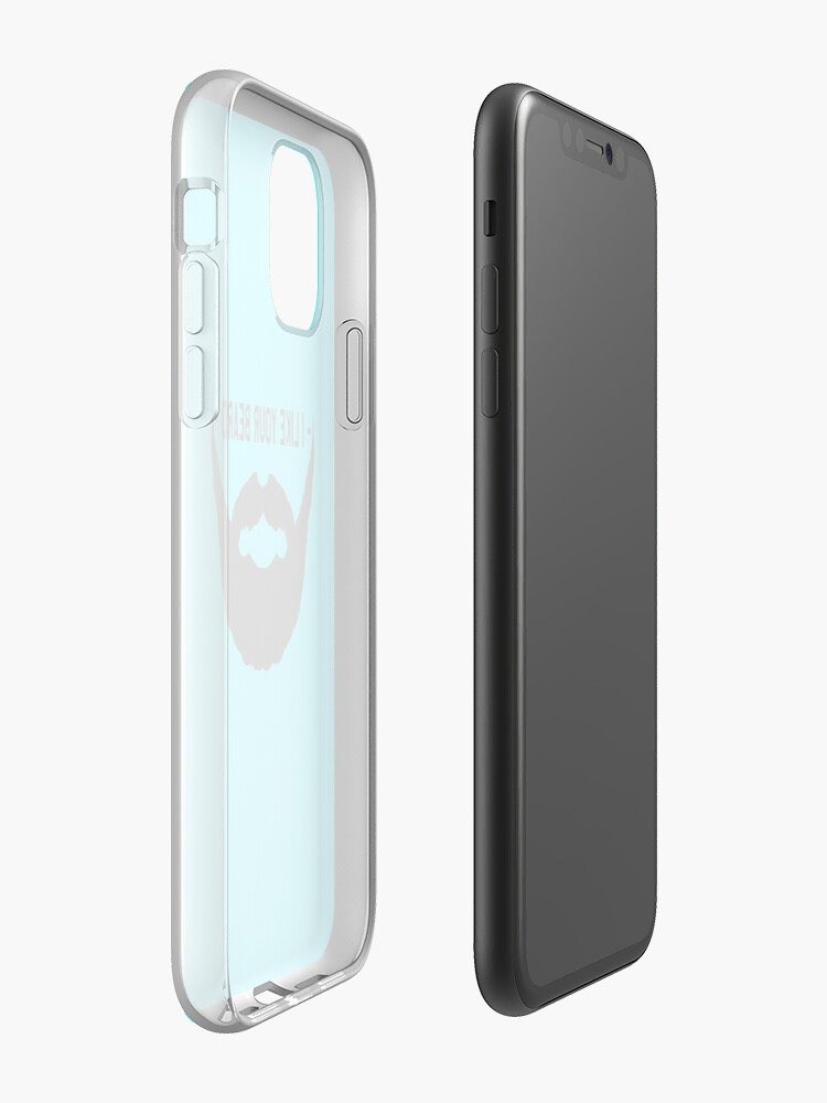 Alternate view of I Like Your Beard iPhone Case & Cover