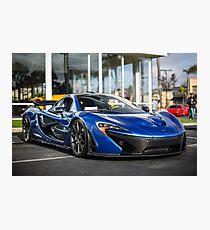 Azure Blue McLaren P1 Photographic Print