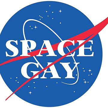 Space Gay NASA Symbol - Queer Outer Space Funny Design by boypilot