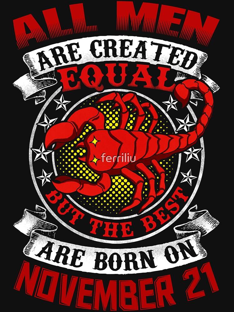 born scorpio november redbubble