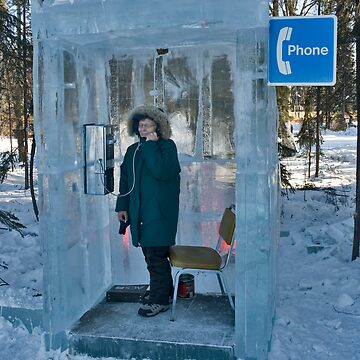 Ice Block Phone Booth by Scholten
