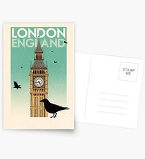 Travel Poster - London England Postcards