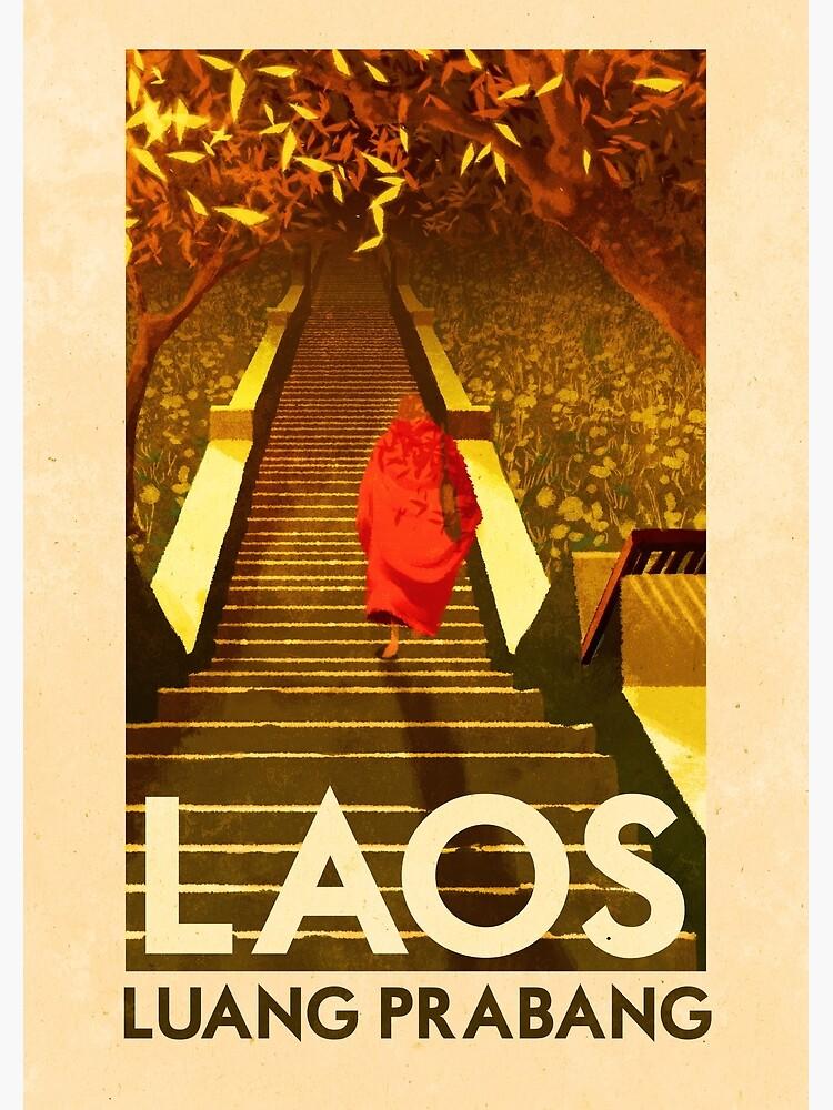 Travel Posters - Luang Prabang Laos by ruiricardo