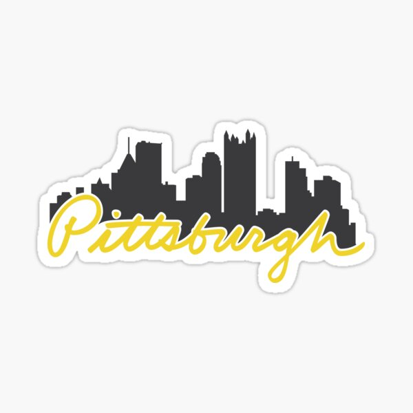 Pittsburgh Skyline Cursive Sticker