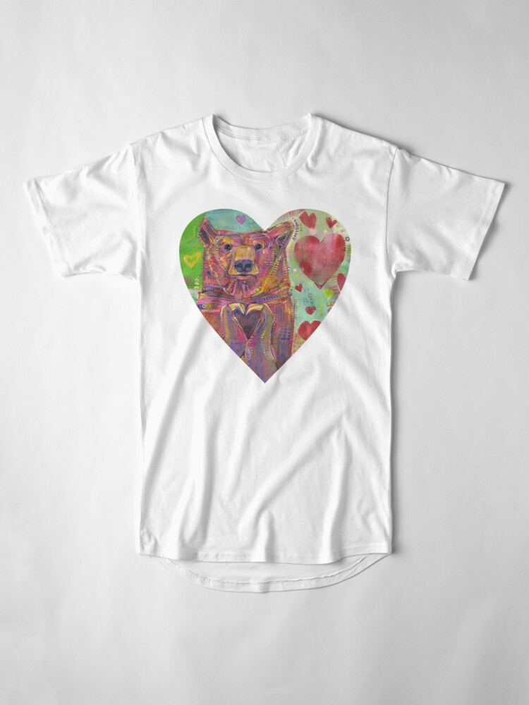 Alternate view of Share the Bear (green) painting - 2014 Long T-Shirt