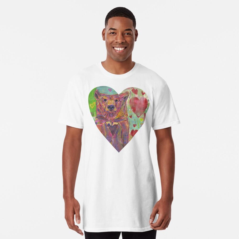 Share the Bear (green) painting - 2014 Long T-Shirt