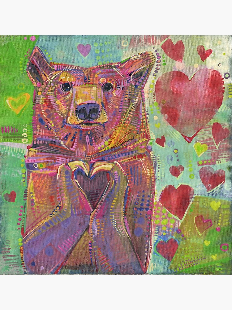 Share the Bear (Green) - 2014 by gwennpaints
