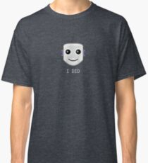 Smiley face emote -  I DID Classic T-Shirt