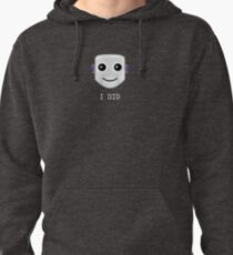 Smiley face emote -  I DID Pullover Hoodie