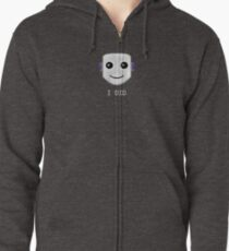 Smiley face emote -  I DID Zipped Hoodie