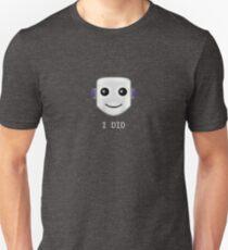 Smiley face emote -  I DID Unisex T-Shirt