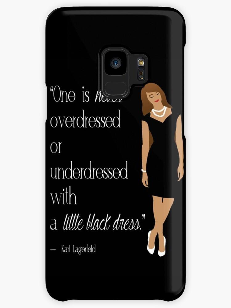 Little Black Dress Karl Lagerfeld Quote Art Cases Skins For