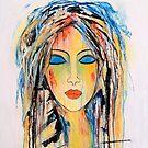 Mein Verstand ist wie eine Farbkiste voller Farben .... von Art-by-Renate