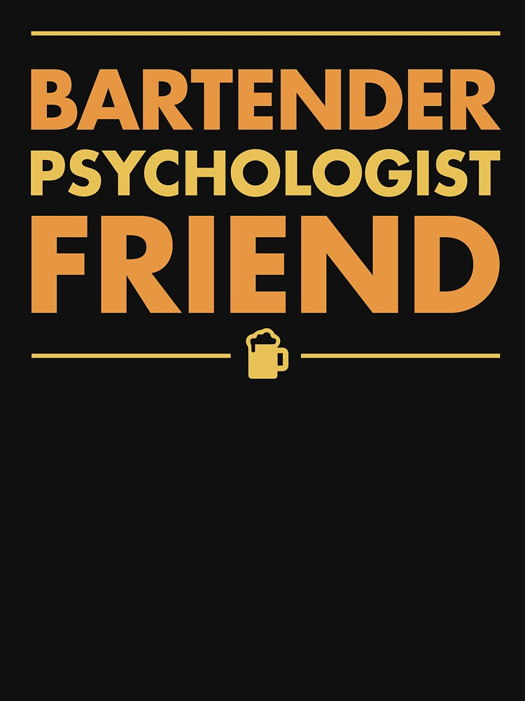 Bartender Psychologist Friend With Beer by DOODL