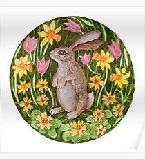 Mandala 27. Rabbit Poster