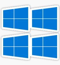 Windows 10 Logo x4  Sticker