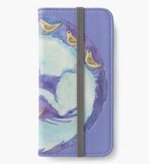 mandala- blue dog iPhone Wallet/Case/Skin