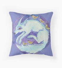 mandala- blue dog Floor Pillow