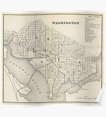 Vintage Map of Washington DC (1866) Poster