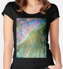 Sun over the Mountain. Women's Fitted Scoop T-Shirt
