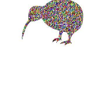 New Zealand Kiwi Bird Sprinkle Shirt   by UrbanHype