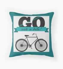 Let's Ride! Throw Pillow