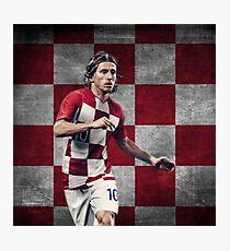 Luka Modric - Croatia Design - World Cup Photographic Print