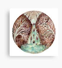 Mandala -waterfall Metal Print