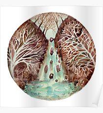 Mandala -waterfall Poster
