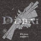 Dubai Map von UrbanizedShirts