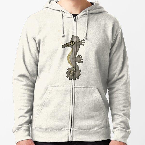Sir Angustus Finn - Nautical Steampunk Seahorse Zipped Hoodie