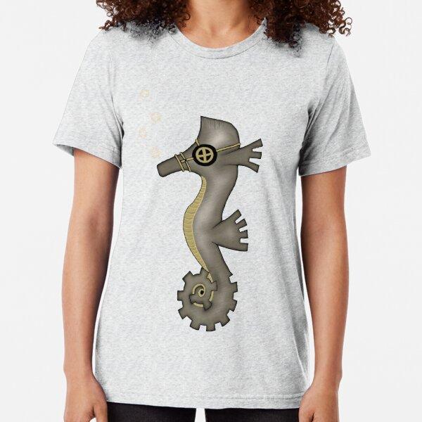 Sir Angustus Finn - Nautical Steampunk Seahorse Tri-blend T-Shirt
