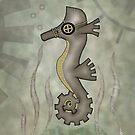 Sir Angustus Finn - Nautical Steampunk Seahorse by LolitasAdorned