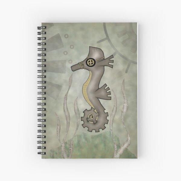 Sir Angustus Finn - Nautical Steampunk Seahorse Spiral Notebook