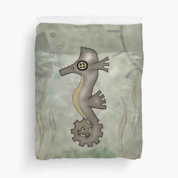 Sir Angustus Finn - Nautical Steampunk Seahorse Duvet Cover
