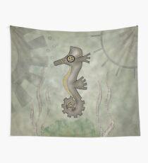 Sir Angustus Finn - Nautical Steampunk Seahorse Wall Tapestry