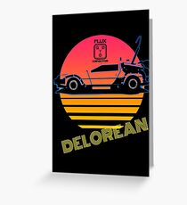 Delorean - Back to the future. Greeting Card