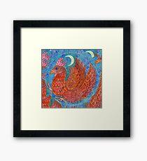 Mandala, chicken Framed Print