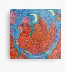 Mandala, chicken Metal Print