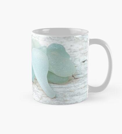 Sea Foam Sea Glass Pale Pastels on White Mug