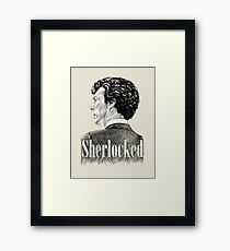 Sherlock Holmes - I am Sherlocked - Benedict Cumberbatch Crosshatch Portrait Framed Print