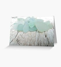 Sea Foam Sea Glass kleine Sammlung Grußkarte