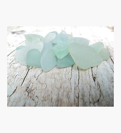 Sea Foam Sea Glass Small Collection Photographic Print