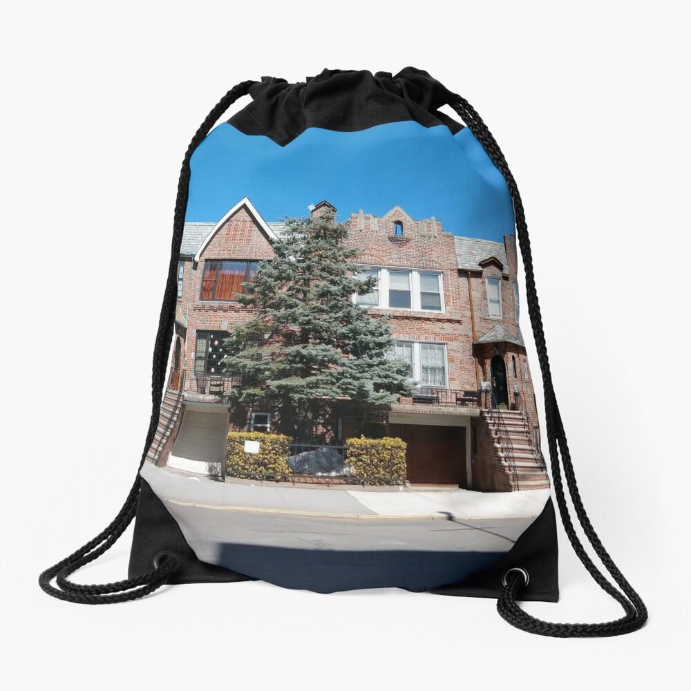 New York City, New York, Brooklyn, Manhattan, building, house Drawstring Bag